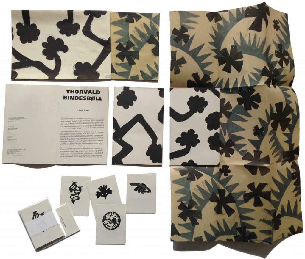 Bindesbøll kunstindustrimuseet, gavepapir kort håndkatalog med indlæg