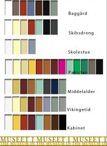 farver fordelt på rum