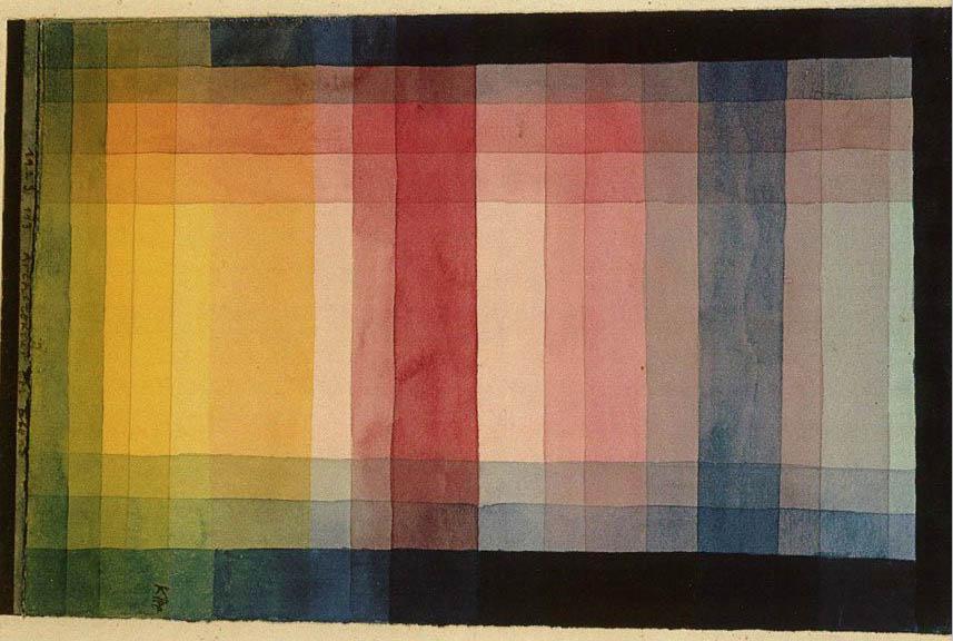 Paul Klee 1923. Farveprøve billedet er vendt 90 grader