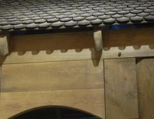 træflis på taget